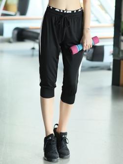 ♥พร้อมส่ง♥ กางเกงโยคะสาวไซส์ใหญ่ กางเกงออกกำลังกายทรงหลวม เอวสูง ผ้าซึบซับเหงื่อแห้งเร็ว