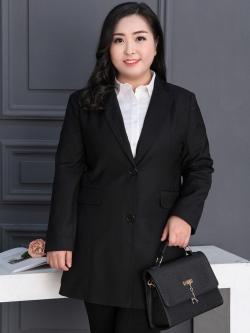 ♥พร้อมส่ง♥ เสื้อสูทไซส์ใหญ่ สำหรับมืออาชีพ สีดำ 5XL (อก 45)