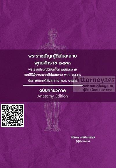 พระราชบัญญัติล้มละลาย ฉบับกายวิภาค ธิติพล ศรีประทักษ์ (วางจำหน่าย 17 มี.ค.61)