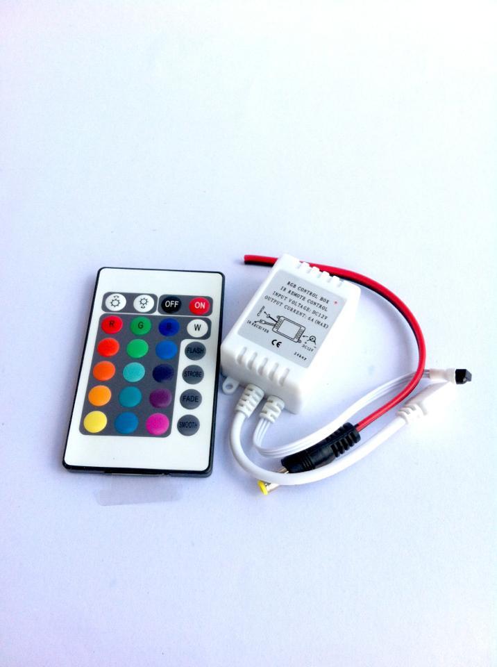 กล่องคุมไฟริบบิ้นRGB+รีโมท 24คีย์