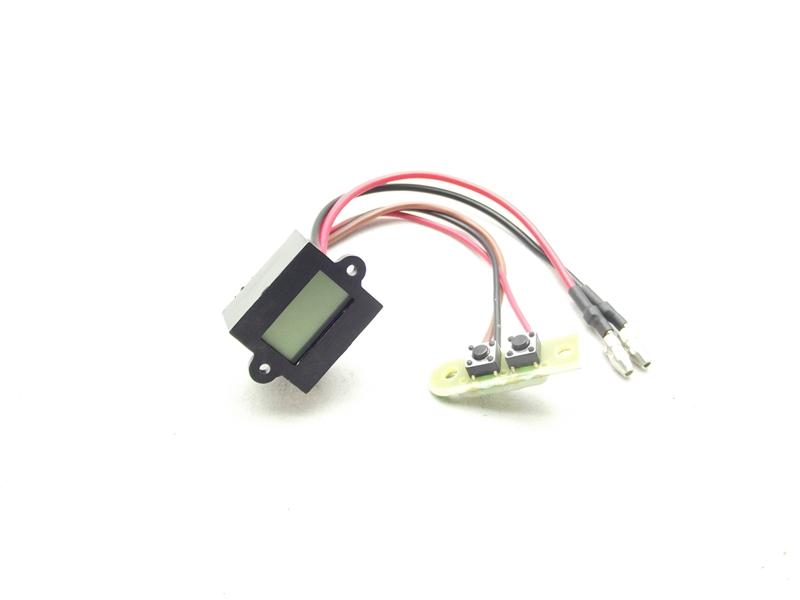 นาฬิกาดิจิตอล ติดรถมอเตอร์ไซต์ สีดำ ( Motorcycle Mount LCD Digital Clock - Black )