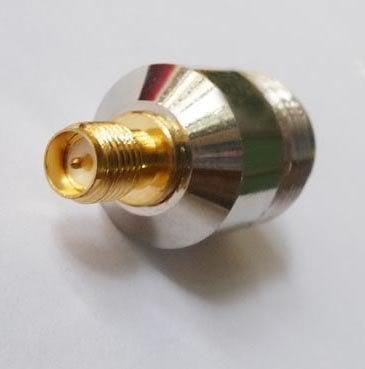 หัวแปลง ขั้วต่อแบบ N ตัวเมีย เป็นแบบ SMA ตัวเมีย ( N female to RP-SMA female adaptor )