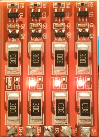 วงจรบาลานซ์เซลล์ แบตเตอรี่ ลิเที่ยม ไอร่อน ฟอสเฟต 3.2V 3.6V 12V