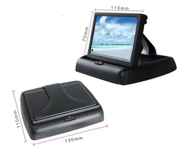 จอติดรถยนต์ LCD TFT 4.3 นิ้ว จอพับ