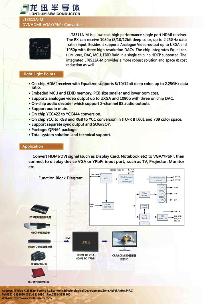 สายแปลง HDMI เป็น VGA แบบมีวงจรถอดรหัส ( HDMI to VGA cable with DAC