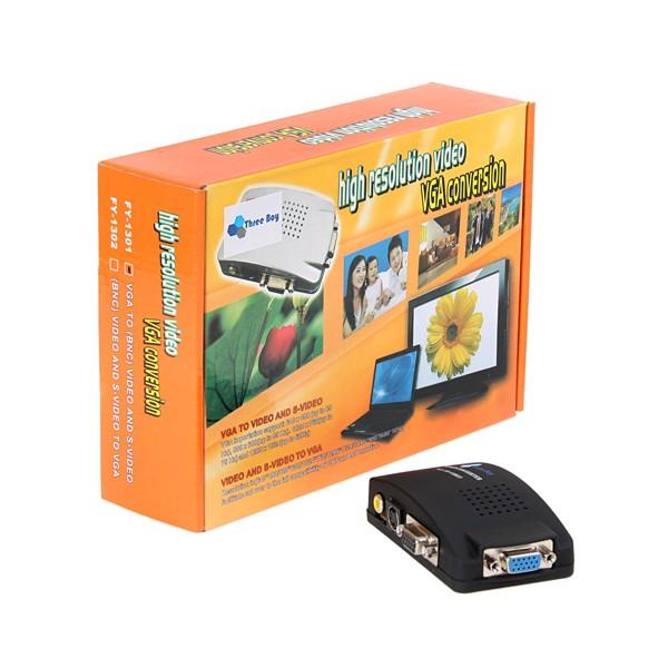 กล่องแปลง VGA (DSUB) เป็น AV ( VGA to AV )