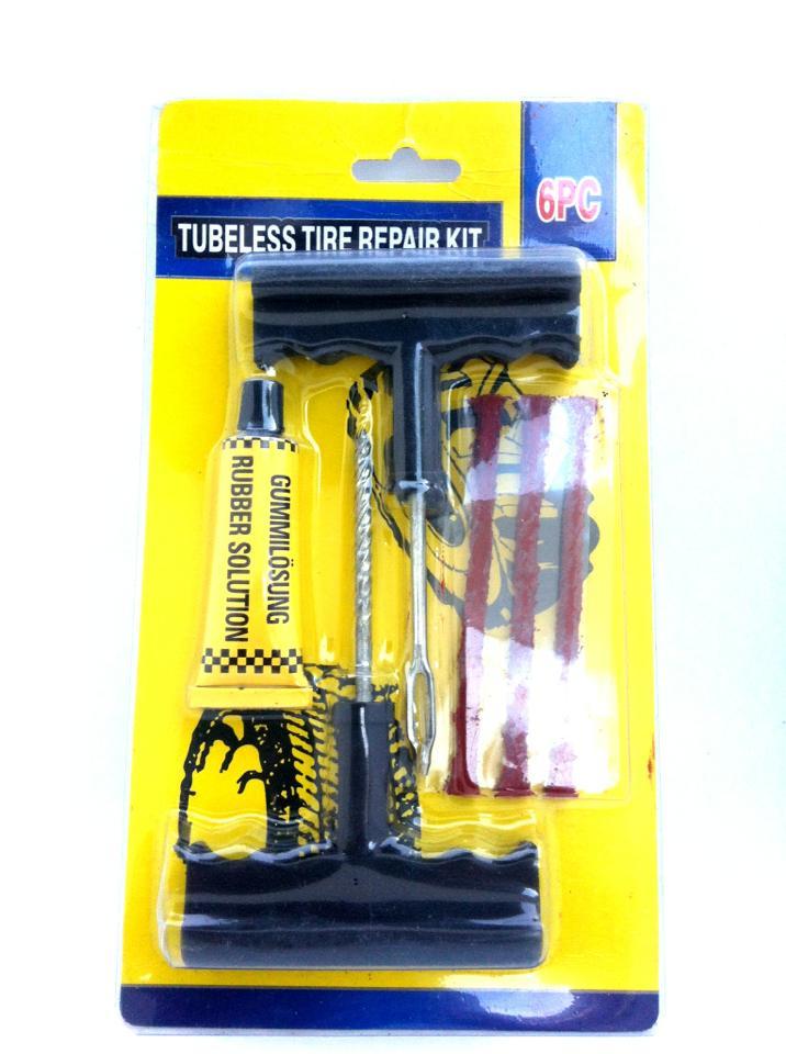 ชุดปะยางเรดียล ยางจุ๊บเลส ยางไม่มียางใน ( tubeless tyre repair kit )