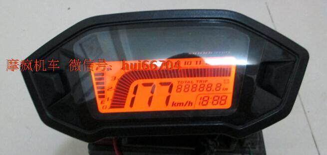 ไมล์ดิจิตอลมอเตอร์ไซต์ จอ LCD ทรง MSX สำหรับล้อ 17 นิ้ว