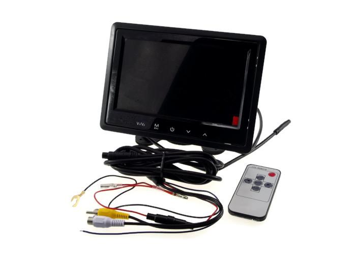 จอ LCD ติดรถยนต์ LCD 7 นิ้ว จอตั้ง/จอ LCD ฝังหมอน / รีโมต