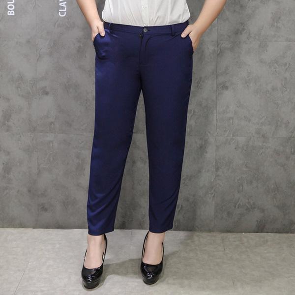 กางเกงขายาวไซส์ใหญ่ รูดซิป ติดกระดุม สีน้ำเงินเข้ม (33,34,36,37,38,40,42) TX~79