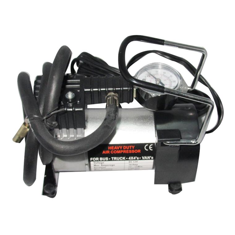 ปั๊มลมไฟฟ้า ติดรถยนต์ แบบสูบเดียว ( 12V single piston tyre inflator )