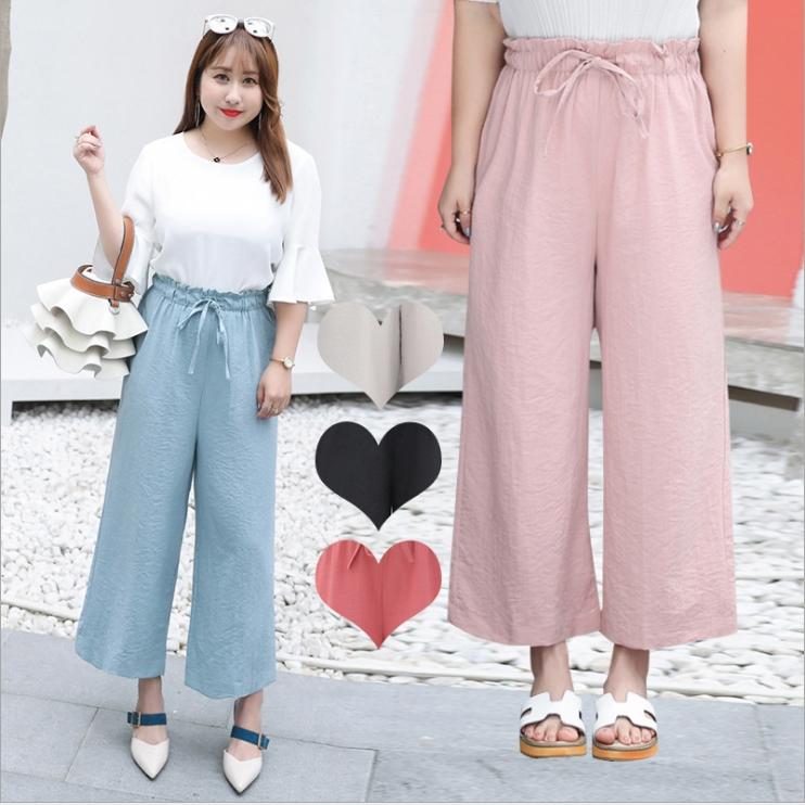 กางเกงขา 5 ส่วน สีดำ/สีชมพู/สีกากี/สีฟ้า/สีแดงอิฐ (XL,2XL,3XL) YK063