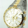 100% Authentic Tag Heuer Carrera Automatic Chronograph CV2050 SS 18k Gold