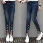 กางเกงยีนส์ขายาว สีน้ำเงิน (XL,2XL,3XL,4XL,5XL)