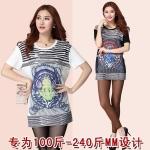 เสื้อยืดไซส์ใหญ่พิมพ์ลาย3D แขนสั้น สีขาว/สีดำ (XL,2XL,3XL,4XL,5XL) W1702