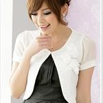 เสื้อกั๊กชีฟอง สีออฟไวท์ (XL,2XL,3XL)