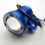 สปอตไลท์ มอเตอร์ไซค์ LED #9 12V 10W มีไฟวงแหวน LED สีฟ้า