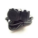 เบ้าชาร์จไฟกันน้ำ แบบที่จุดบุหรี่ 12V + USB 5V มีประกับยึด