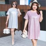 เสื้อยืดวิ้งๆๆสำหรับสาวอวบ สีขาว/สีดำ/สีชมพู/สีม่วง (XL.2XL.3XL) YS205
