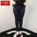กางเกงยีนส์ยืดไซส์ใหญ่ สีน้ำเงินดำ (38,40,42)