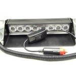 ไฟฉุกเฉินLED ฟ้า-แดง 12V 8 X 3W แบบแปะกระจกหน้ารถยนต์