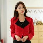 เสื้อคลุมแจ็คเก็ตไซส์ใหญ่ สีแดง แขนยาว ติดกระดุมหนึ่งเม็ด (XL,2XL,3XL)