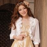 [PRE-ORDER] เสื้อคลุมชีฟองแขนยาว สีขาว ไซส์ (XL,2XL,3XL,4XL)