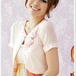 เสื้อคาร์ดิแกนcropped ชีฟอง สีชมพู (XL,2XL,3XL)