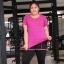 เสื้อยืดออกกำลังกายไซส์ใหญ่ สีHot pink/สีเขียว/สีเทา/สีฟ้าเข้ม (XL,2XL,3XL,4XL) MX7792