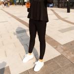 กางเกงผ้ายืดขายาว สีดำ (XL,2XL,3XL,4XL)