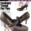 Shoes106 ChocoBrown Classic Shoes ใหม่! รองเท้าคัชชูส้นสูงลสีน้ำตาลช็อคearthtone คลาสสิก เหมือนสาวเกาหลี น่ารักมาก มีสายคาดถอดง่าย ไซส์ 36 thumbnail 1