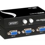 กล่องเลือกสัญญาณ VGA เข้า 1 ออก 2 ( 2 Ports VGA SWITCHER )