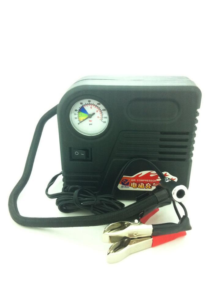 ปั้มลม มอเตอร์ไซต์ Motorcycle air pump Motorcycle tyre inflator 12V