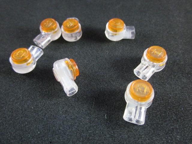 กิ๊บบีบต่อสายโทรศัพท์ สายแลน ตัวต่อกลางสาย ถุงละ 180 ตัว( K1 line connector )