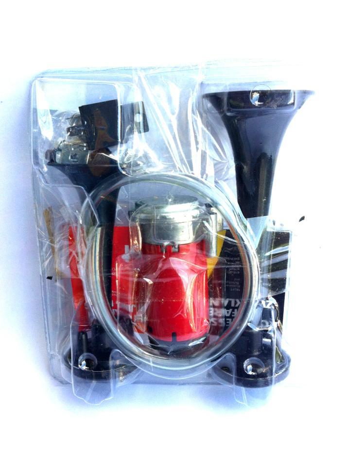 แตรลมไฟฟ้า 2ปาก ดำ 12v