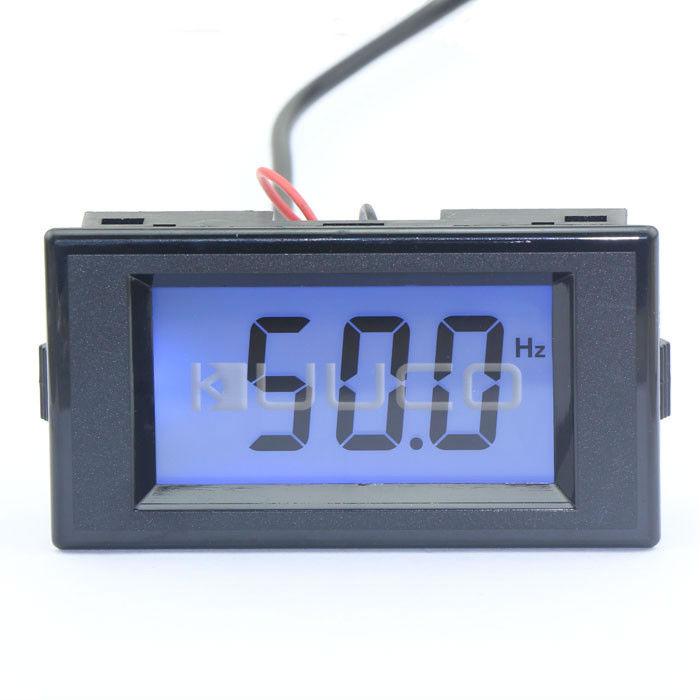 มิเตอร์วัดความถี่ดิจิตอล LCD 10-199 Hz 150-500 VAC ( digital frequency meter )